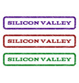 silicon valley watermark stamp vector image vector image
