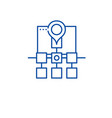 sitemap web structure line icon concept sitemap vector image vector image