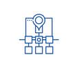 Sitemap web structure line icon concept sitemap