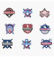 sports logo badges 7 vector image vector image