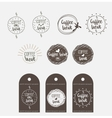 sticker badge coffee shop vector image vector image