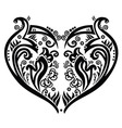 Swirly heart tatoo inspired vector image vector image
