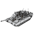tank abrams m1 vector image vector image