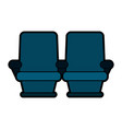 theater seats icon image vector image vector image