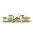 town life - modern flat design style vector image vector image