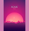 travel poster futuristic retro skyline rome vector image vector image
