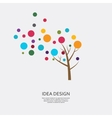 tree with colored circles vector image
