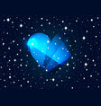 valentines day background with heart and stars vector image vector image