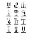 various antennas and locators vector image vector image