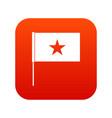 vietnam flag icon digital red vector image vector image