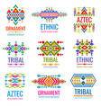 vintage american indian logo set business vector image vector image