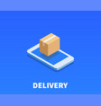 web package delivery icon symbol vector image