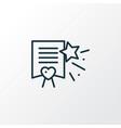 wish list icon line symbol premium quality vector image vector image