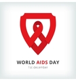 world aids day symbol icon vector image