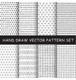 hand drawing pattern set vector image