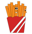 a box french fries or color vector image
