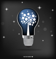 A light bulb with tree inside vector image vector image