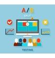 AB comparison test vector image