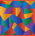 abstract colorful polygonal mosaic background vector image