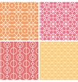 Abstract lineart geometric seamless patterns set vector image vector image