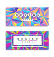 abstract low poly 90s holographic pastel card set vector image