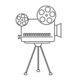 abstract old camera vector image vector image