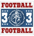American football - Print for boy sportswear vector image vector image