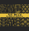 art deco seamless pattern set retro backgrounds vector image