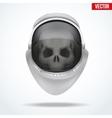 Astronaut space helmet with skull behind visor vector image