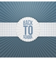 Back to School greeting Tag on paper Ribbon vector image vector image