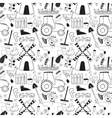 Black and whete seamless pattern farm elements in vector image vector image