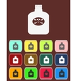 Bottle Of Poison with color variations vector image