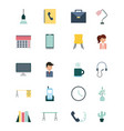 businesswoman and businessman icons set vector image