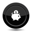 Button with piggy bank vector image vector image