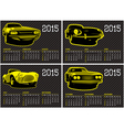 calendar template with cars on carbon background vector image vector image