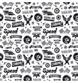 car races seamless pattern vector image vector image
