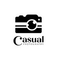casual camera photography logo icon template vector image