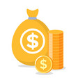 charity or investment golden bag money vector image vector image