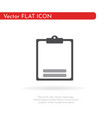 checklist icon flat icon for apps and websites vector image vector image