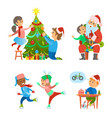 christmas holidays preparation tree decoration vector image vector image