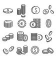 coins metal money financial symbol in stacks vector image vector image