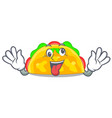 crazy omelatte fried isolated on the mascot vector image