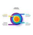 creative concept for infographic abstract vector image vector image