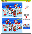 differences game with christmas characters vector image vector image