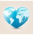 Earth heart vector image vector image
