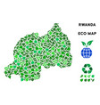 ecology green collage rwanda map vector image vector image