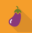 eggplant flat icon with shadow vector image vector image