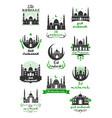 eid mubarak icon for ramadan kareem design vector image vector image
