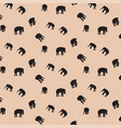 elephant silhouette pattern background vector image