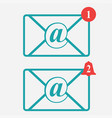 email icon envelopes vector image